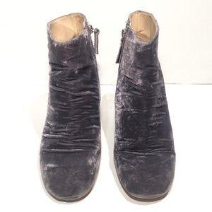 Zara Shoes - Zara Basic Collection Grey Velvet Ankle Booties